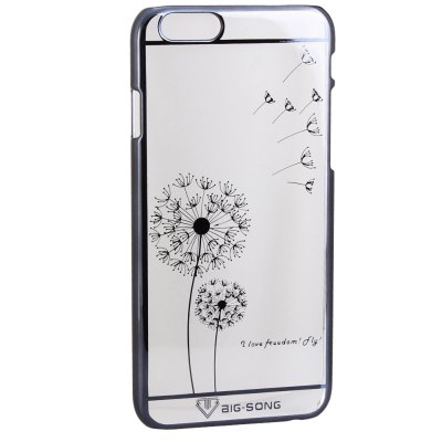 Гаджет   BigSong PC Material Butterfly Pattern Phone Back Cover Case of Transparent Design for iPhone 6 Plus  -  5.5 inch iPhone Cases/Covers