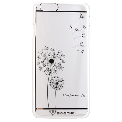 Гаджет   BigSong PC Material Dandelion Pattern Phone Back Cover Case of Transparent Design for iPhone 6  -  4.7 inch iPhone Cases/Covers