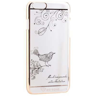 Гаджет   BigSong PC Material Magpie Branches Pattern Phone Back Cover Case of Transparent Design for iPhone 6  -  4.7 inch