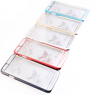 Фотография BigSong PC Material Magpie Branches Pattern Phone Back Cover Case of Transparent Design for iPhone 6  -  4.7 inch