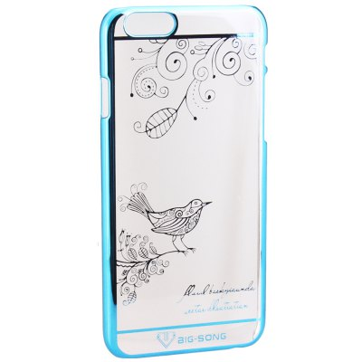 BigSong PC Material Magpie Branches Pattern Phone Back Cover Case of Transparent Design for iPhone 6  -  4.7 inch