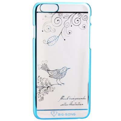 Фотография BigSong PC Material Magpie Branches Pattern Phone Back Cover Case of Transparent Design for iPhone 6 Plus  -  5.5 inch