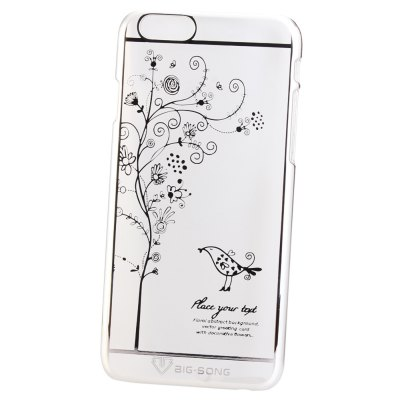 Гаджет   BigSong PC Material Bird Blooms Pattern Phone Back Cover Case of Transparent Design for iPhone 6 Plus  -  5.5 inch iPhone Cases/Covers