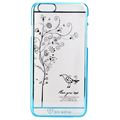 Фотография BigSong PC Material Bird Blooms Pattern Phone Back Cover Case of Transparent Design for iPhone 6  -  4.7 inch