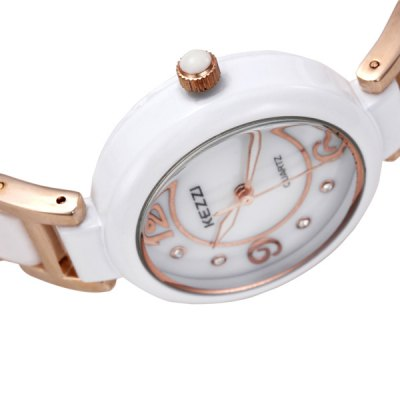 Фотография Kezzi Analog Ladies Quartz Watch Round Dial Ceramic Strap