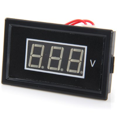 V85A 0.56 inch 3 - Digit Blue LED AC Voltmeter Module with 2 Cable DIY Accessories ( AC 75 - 300V )