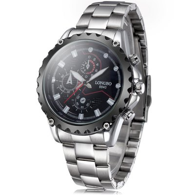 Longbo 8840 Japan Movt Quartz Watch Non - functioning sub - dials Male WristwatchMens Watches<br>Longbo 8840 Japan Movt Quartz Watch Non - functioning sub - dials Male Wristwatch<br><br>Brand: Longbo<br>Watches categories: Male table<br>Watch style: Business<br>Available color: White, Black<br>Movement type: Quartz watch<br>Shape of the dial: Round<br>Display type: Analog<br>Case material: Alloy<br>Band material: Alloys<br>Clasp type: Folding clasp with safety<br>The dial thickness: 1.4 cm / 0.55 inches<br>The dial diameter: 4.5 cm / 1.77 inches<br>Product weight: 0.132 kg<br>Package weight: 0.182 kg<br>Product size (L x W x H): 24 x 4.5 x 1.4 cm / 9.43 x 1.77 x 0.55 inches<br>Package size (L x W x H): 25 x 5.5 x 2.4 cm / 9.83 x 2.16 x 0.94 inches<br>Package Contents: 1 x Longbo 8840 Watch