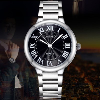 Longbo 8777 Analog Japan Quartz Watch Male Wristwatch with Alloy Body