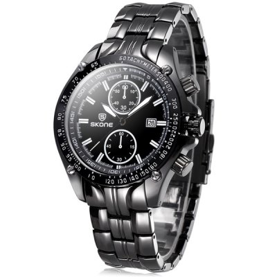 Skone Japan Movt Quartz Watch with Date Function for Men