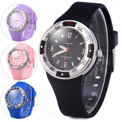 Pasnew PSE - 405 Luminous Analog Children Japan Quartz Watch Water Resistant Rubber Band