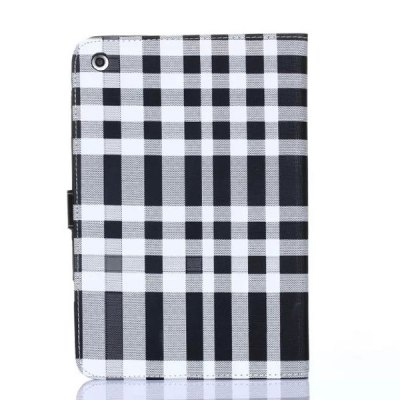 ФОТО Stand Design Grid Pattern Card Holder Protective Cover Case of PU and PC Material for iPad mini 3