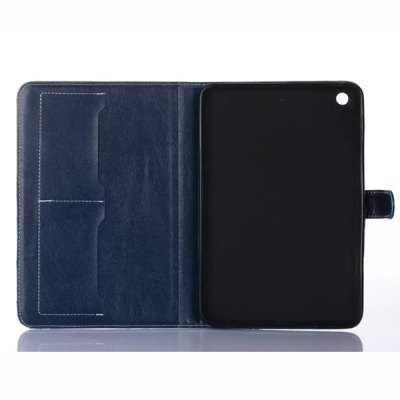 Фотография Stand Design Grid Pattern Card Holder Protective Cover Case of PU and PC Material for iPad mini 2