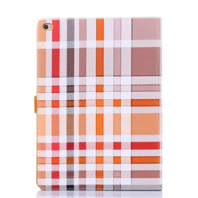 ФОТО Stand Design Grid Pattern Card Holder Protective Cover Case of PU and PC Material for iPad Air 2