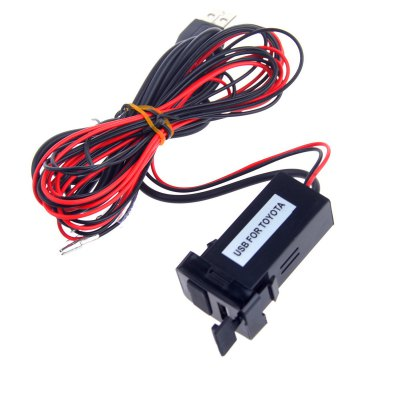 12V 1.2A USB Charger Port with Audio Port for TOYOTA