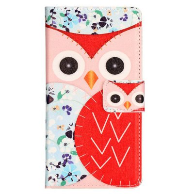 ФОТО Stand Design Owl Pattern Protective Cover Case of PU and PC Material for LG G3 D850