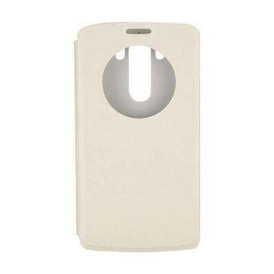 Stand Design View Window Frosted Protective Cover Case of PU and PC Material for LG G3 D850