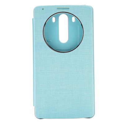 ФОТО PU and PC Material View Window Protective Cover Case with Battery Back Case for for LG G3 D850 LS990