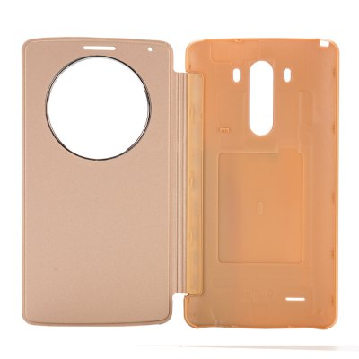 Фотография PU and PC Material View Window Protective Cover Case with Battery Back Case for for LG G3 D850 LS990