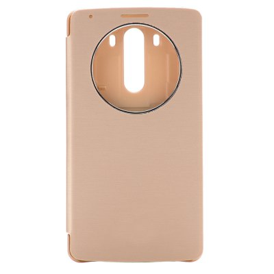 PU and PC Material View Window Protective Cover Case with Battery Back Case for for LG G3 D850 LS990
