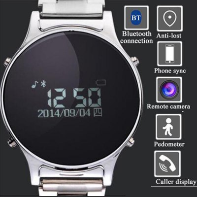 ФОТО J1 Stainless Steel Smart Watch with Caller Display Pedometer
