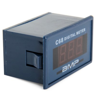 Iron + Plastic + PCB C68A 3 - Digit Ammeter Meter Module with Fine Adjustment