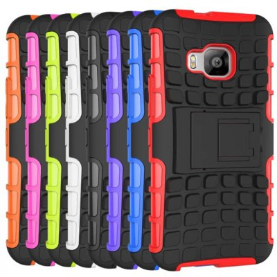 ФОТО Stand Design TPU and PC Material Tire Pattern Protective Back Cover Case for HTC One M9