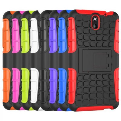 ФОТО Stand Design TPU and PC Material Tire Pattern Protective Back Cover Case for HTC Desire 610