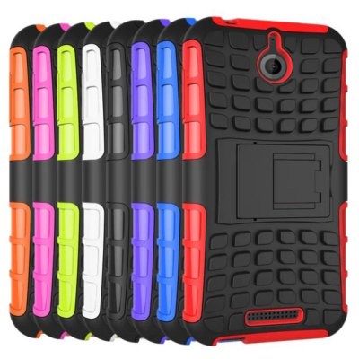 ФОТО Stand Design TPU and PC Material Tire Pattern Protective Back Cover Case for HTC Desire 510