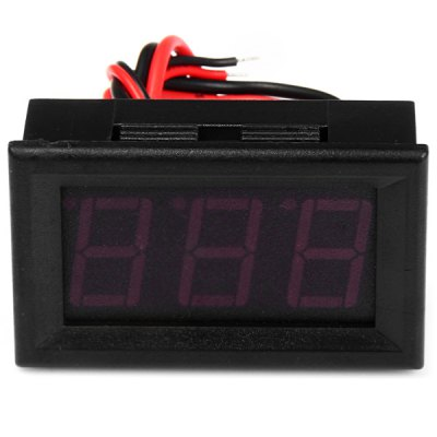 Фотография DC 100A 1.53 inch 3 Digit Red LED Digital Ammeter Module for DIY Projects