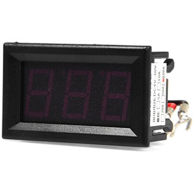 DC 100A 1.53 inch 3 Digit Red LED Digital Ammeter Module for DIY Projects