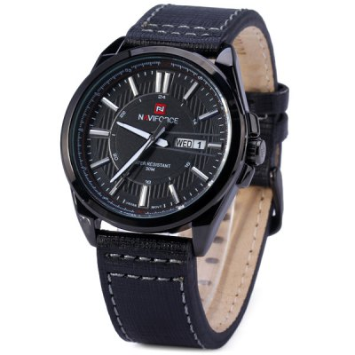 ФОТО Naviforce 9046A Water Resistance Male Military Japan Quartz Watch