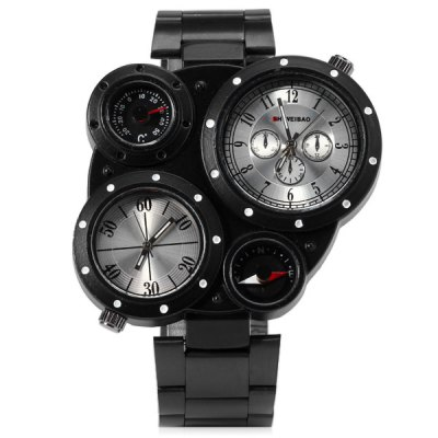 Фотография Shiweibao J3104 Stainless Steel Body Male Multi Sub - dials Quartz Watch