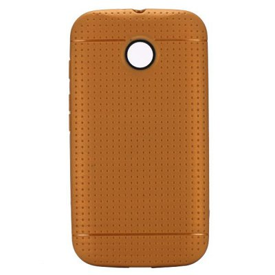 Mesh Pattern Phone Back Cover Case of TPU Material for Motorola Moto E XT1021 XT1022 XT1025