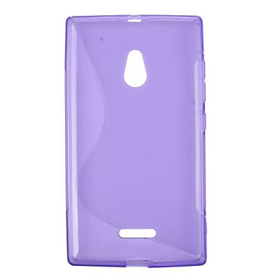Фотография S Shape Pattern TPU Material Ultrathin Back Cover Case for Nokia XL
