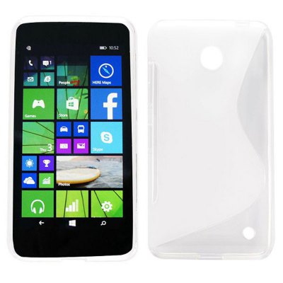 S Shape Pattern TPU Material Ultrathin Back Cover Case for Nokia Lumia 630