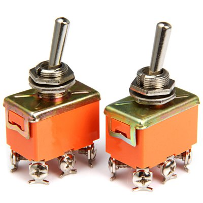 6Pin AC 250V 15A Toggle ON  -  OFF  -  ON Switches for Electronic DIY  -  2PCS