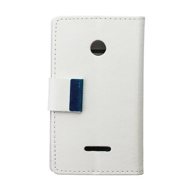 ФОТО Stand Design Built - in Card Holder Protective Cover Case of PU and PC Material for Microsoft Lumia 435
