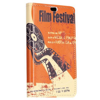 ФОТО Stand Design Film Festival Pattern Protective Cover Case of PU and PC Material for Nokia X