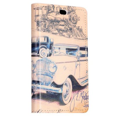 ФОТО Stand Design Car and Eiffel Tower Pattern Protective Cover Case of PU and PC Material for Nokia X