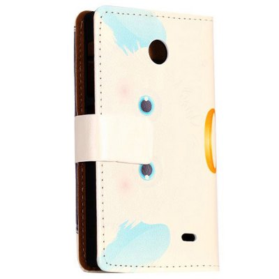 Фотография Stand Design Black Cartoon Ball Pattern Protective Cover Case of PU and PC Material for Nokia X