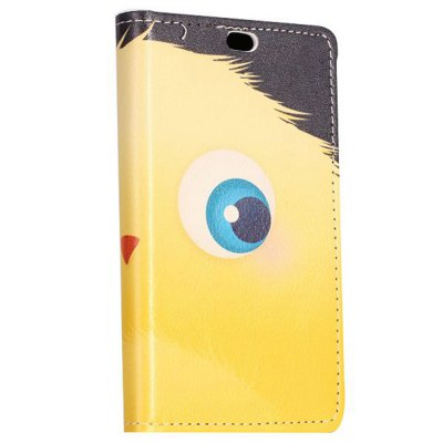 ФОТО Stand Design Yellow Cartoon Ball Pattern Protective Cover Case of PU and PC Material for Nokia X