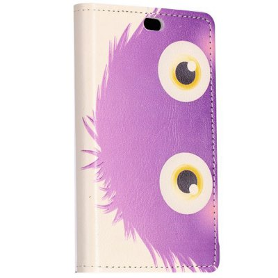 ФОТО Stand Design Purple Cartoon Ball Pattern Protective Cover Case of PU and PC Material for Nokia X