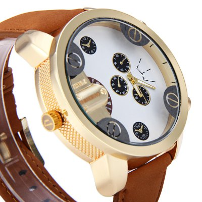 Фотография Shiweibao A3132 - 5 Round Dial Male Quartz Watch with Double Movt