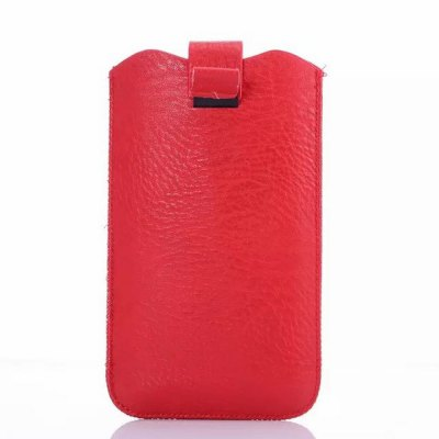 Practical Vertical Phone Bag Storage Pouch of PU Material for iPhone 6 Plus / Samsung Galaxy Note 3 Note 4 etc.