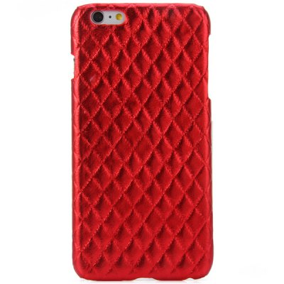 Гаджет   Practical PC and PU Material Rhombus Grid Pattern Back Cover Case for iPhone 6 Plus  -  5.5 inch iPhone Cases/Covers