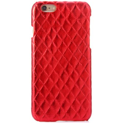 Practical PC and PU Material Rhombus Grid Pattern Back Cover Case for iPhone 6  -  4.7 inch