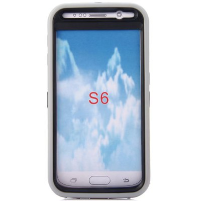 Фотография Practical Texture Detachable Silicone and PC Stand Design Back Case Cover for Samsung Galaxy S6 G9200