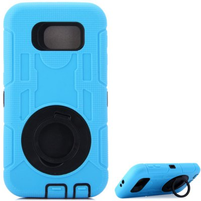 Фотография Practical Texture Detachable Silicone and PC Back Case Cover Stand Design for Samsung Galaxy S6 G9200