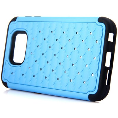 Фотография Diamante Phone Protective Cover Case of TPU and PC Material for Samsung Galaxy S6 G9200