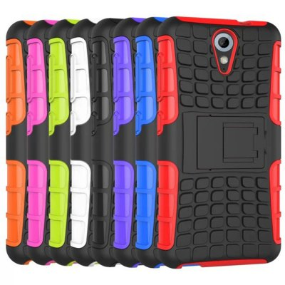 ФОТО Stand Design TPU and PC Material Tire Pattern Protective Back Cover Case for HTC 8S A620